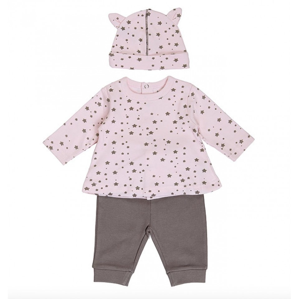 3 PIECE STARS BABY GIRL SET