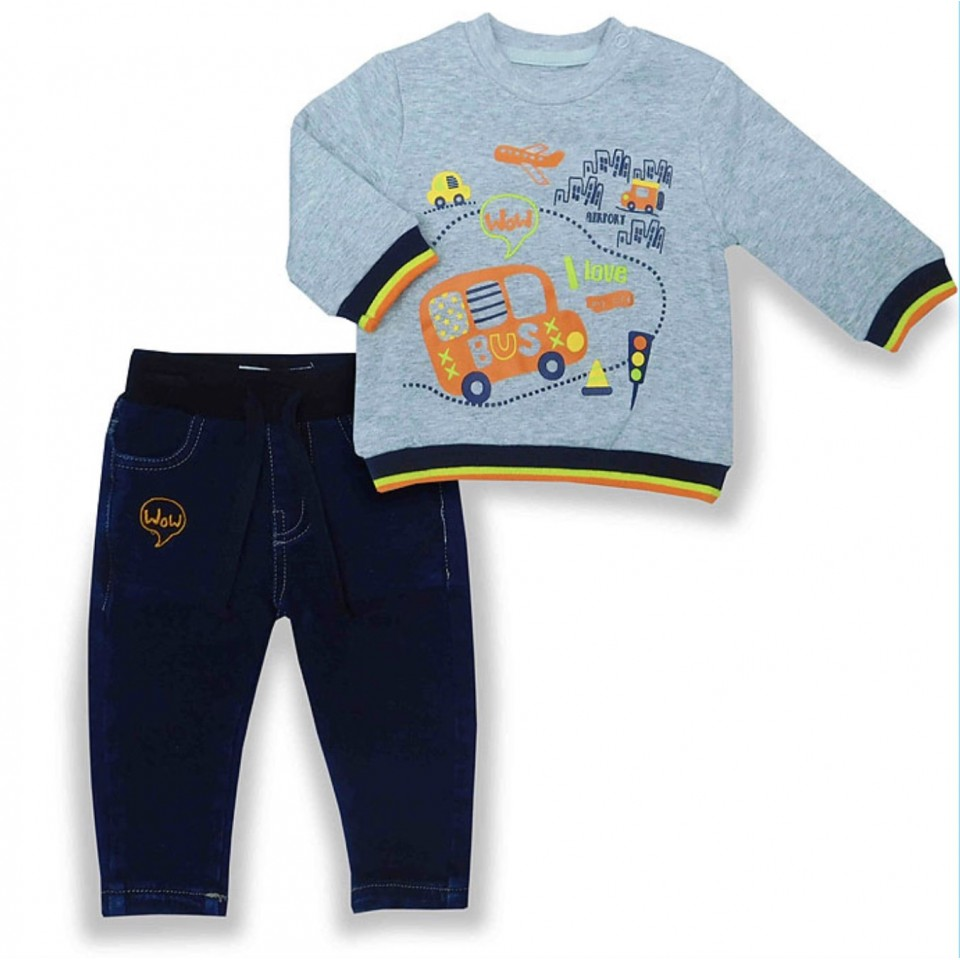 BUS COTTON TOP AND PANTS SET
