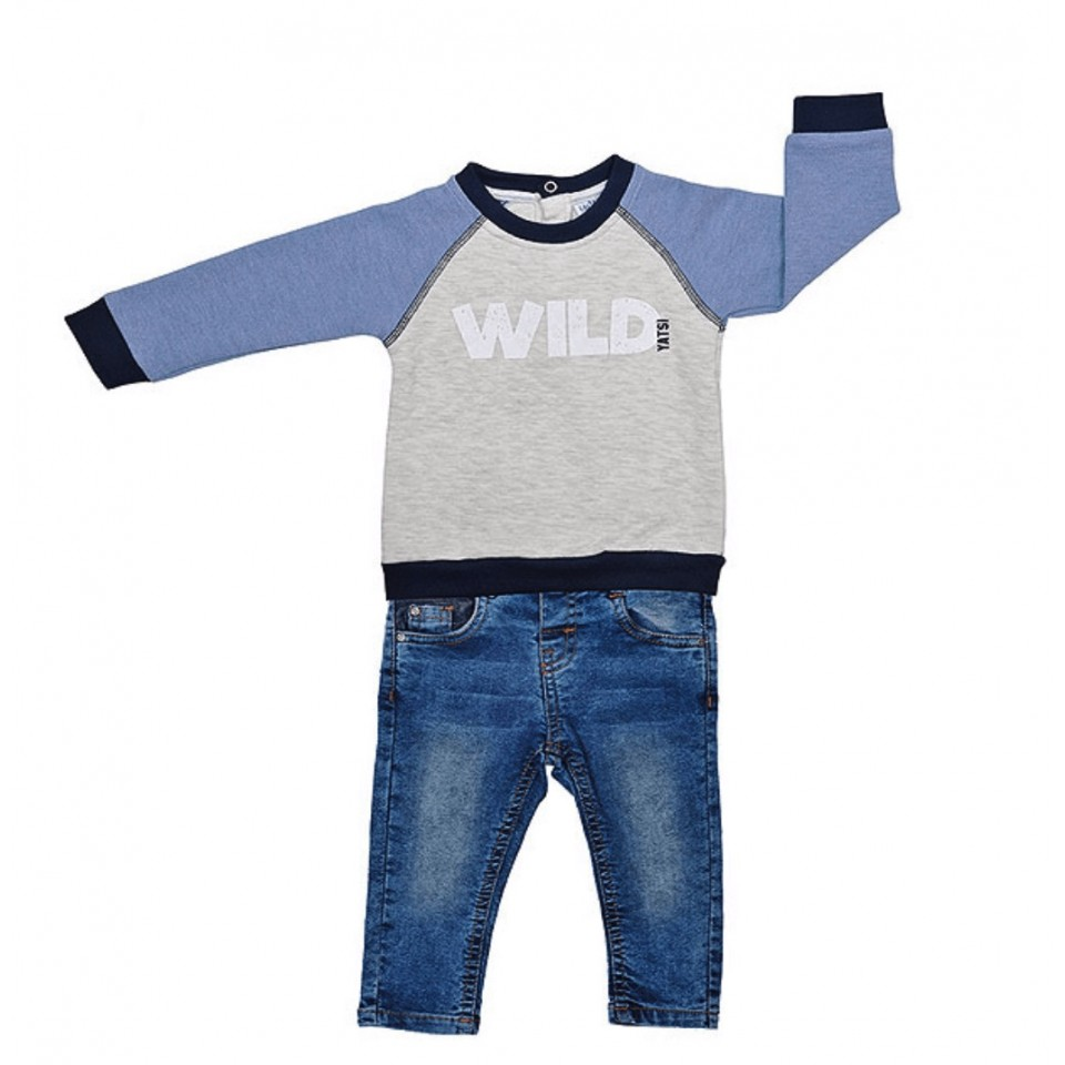TOP AND JEANS BABY BOY SET
