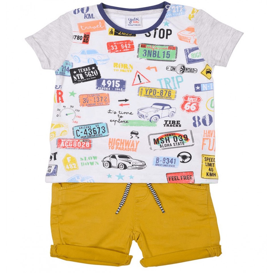 SHORT JEANS AND T-SHIRT BABY BOY SET